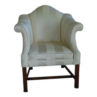 Chippendale Off-White Upholstered Chair
