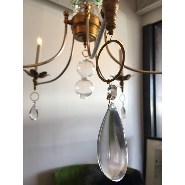Contemporary Vintage Murano Glass Chandelier With a Contemporary Twist For Sale - Image 3 of 6