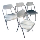 Image of Mid-Century Modern Folding Chairs- a Pair For Sale