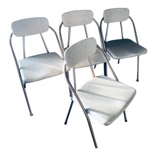 Mid-Century Modern Folding Chairs - Set of 4 For Sale