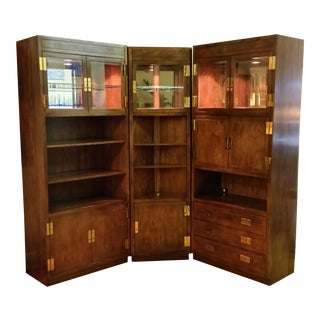 Henredon Scene I Campaign Style Cabinets - Choice From 3 Separate Units For Sale