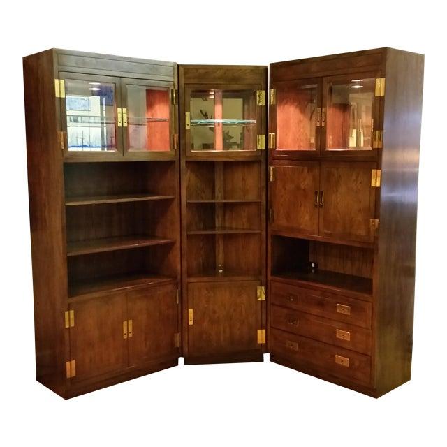Henredon Scene I Campaign Style Cabinets - Set of 3 - Image 1 of 11