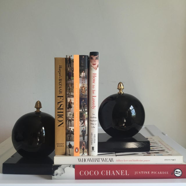 Vintage Alabaster Sphere Bookends - a Pair For Sale - Image 4 of 7