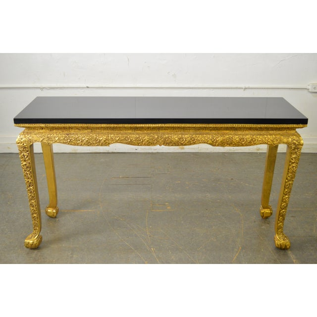 Georgian Style Carved Gilt Console Table by Manheim Weitz For Sale In Philadelphia - Image 6 of 13