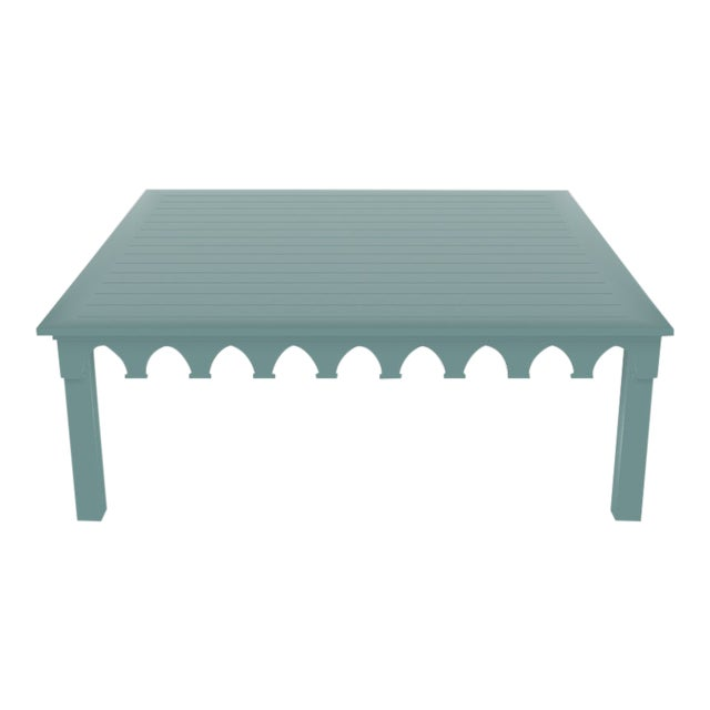 Oomph Ocean Drive 42 Outdoor Coffee Table, Green For Sale