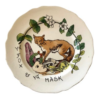 Copeland Fox and Mask Plate For Sale