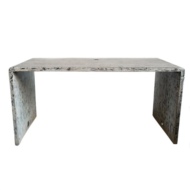 White Modern Waterfall Table / Desk For Sale - Image 8 of 8