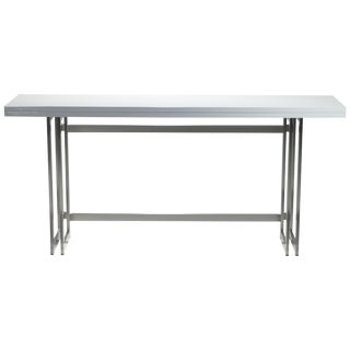 Italian Midcentury Artelano White Lacquer Extending Console Table, 1970s For Sale