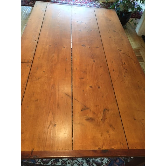 Reclaimed Wood Farm Table - Image 5 of 9