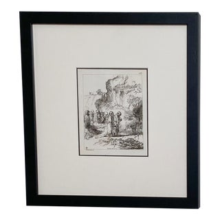 Late 18th Century Rembrandt Etching #4, by Francesco Novelli For Sale