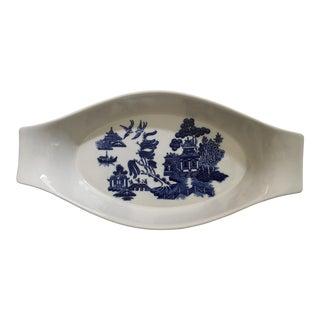 Vintage Mint Heritage, Ltd. Blue Willow Large Au Gratin Dish
