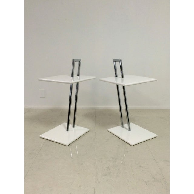 Vintage Eileen Gray Occasional Tables - A Pair - Image 2 of 6