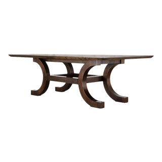 Palazzo Walnut Dining Table by Orlando Diaz-Azcuy for McGuire For Sale