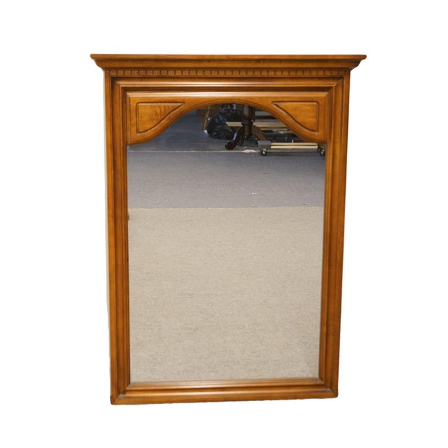 Wood Late 20th Century Sumter Cabinet Italian Neoclassical Inspired Wall Mirror For Sale - Image 7 of 7