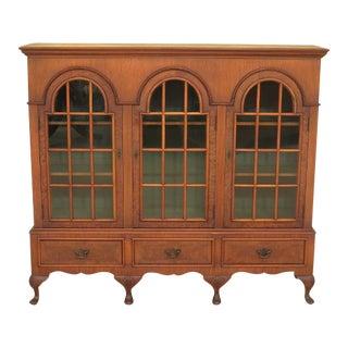 Flint & Horner Vintage George III Style Walnut 3 Door Bookcase For Sale
