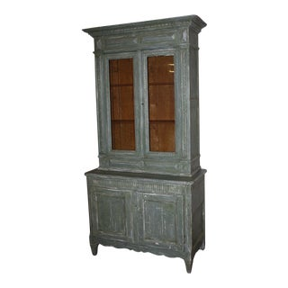 19th Century Painted French Buffet Deux Corps For Sale