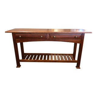 "Transitional Drexel Heritage ""The Artisan Bungalow Console"""