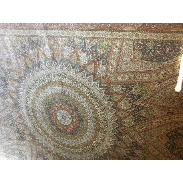 Finely Knotted Silk Qom Carpet - 7′10″ × 11′4″ - Image 5 of 8