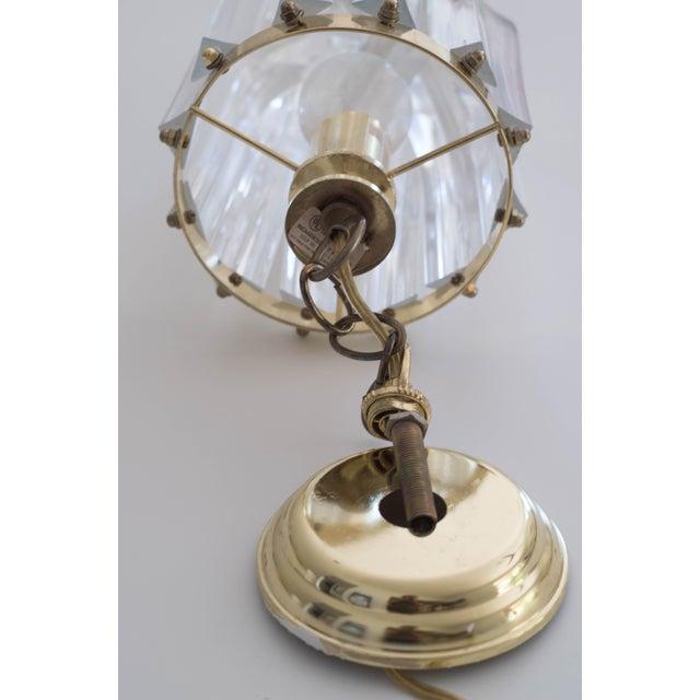 Vintage Glam Regency Lucite Ribbon Chandelier Light - Image 3 of 6