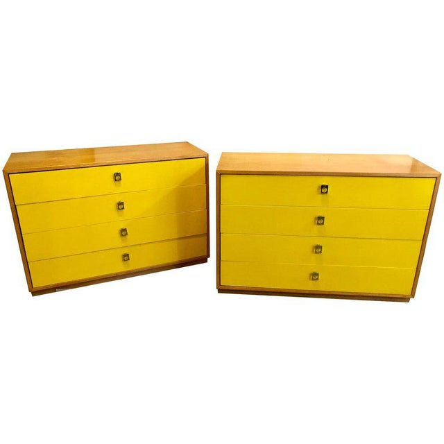 Pair of Founders Mid-Century Modern Bachelors Chests or Nightstands or Commodes For Sale - Image 13 of 13