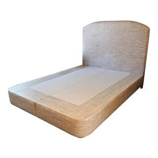 1970s Contemporary Vinyl Striped Pastel Platform Bed For Sale