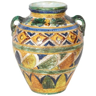 Italian Modernist Vase in the Etruscan Style by Bitossi