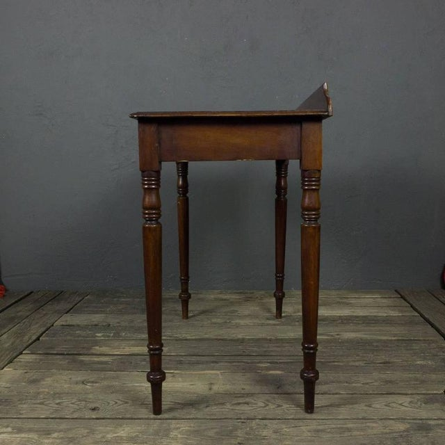 Late 19th Century French 19th Century Mahogany Desk With Two Drawers For Sale - Image 5 of 11