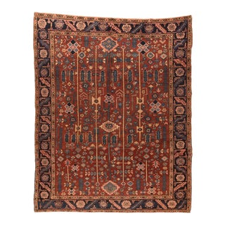 Antique Hand Made Heriz Persian Rug For Sale