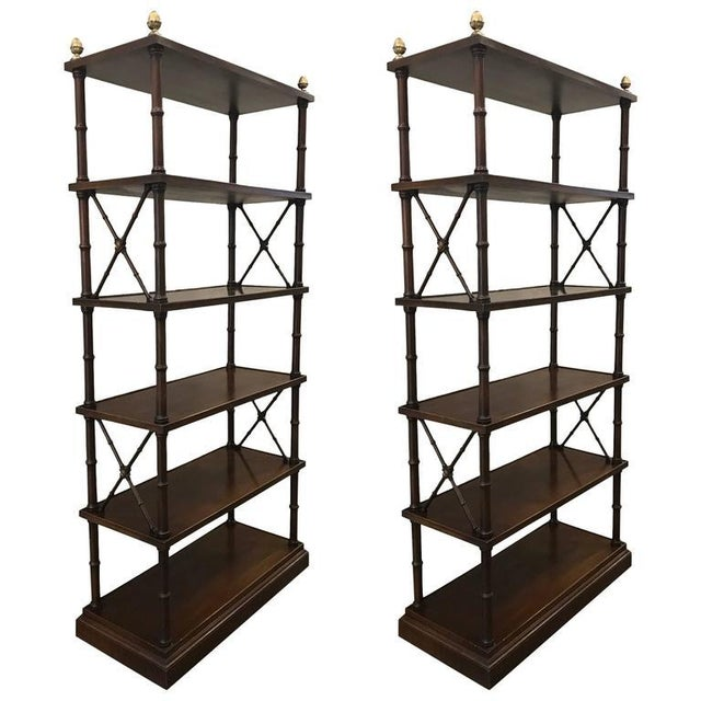 Metal Pair of Directoire Style Etageres For Sale - Image 7 of 7