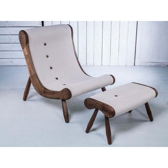 Danish Lounge Chair & Ottoman - Image 3 of 8
