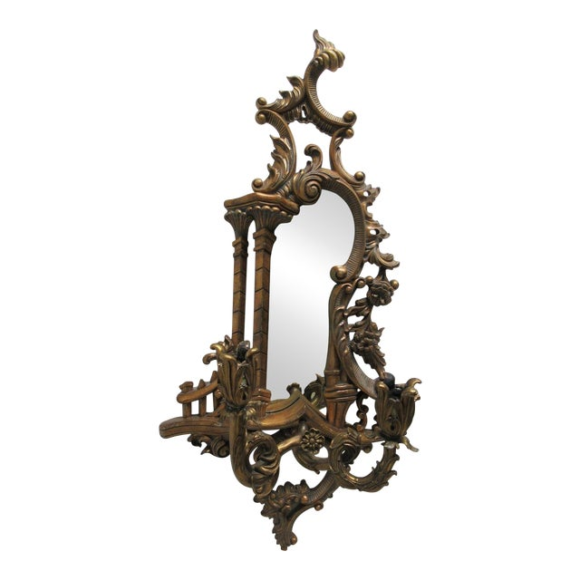 Theodore Alexander Mirror Bronze Wall Sconce Candelabra For Sale