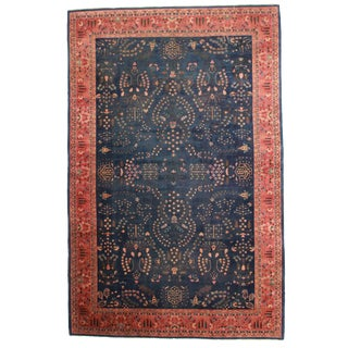 RugsinDallas Antique Indian Agra Hand Knotted Wool Rug- 10′10″ × 16′9″ For Sale