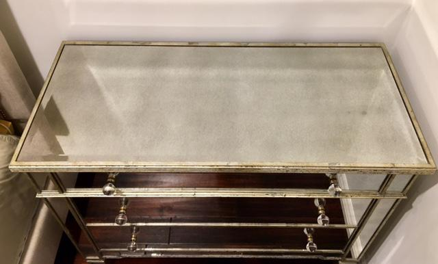 Neiman Marcus Amelie Mirrored Hall Chest For Sale   Image 4 Of 5
