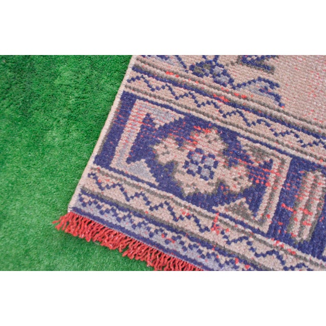 """Distressed - Faded Oushak Rug Runner Stunning Kitchen Decor - 2'11"""" x 11'7"""" For Sale - Image 9 of 10"""