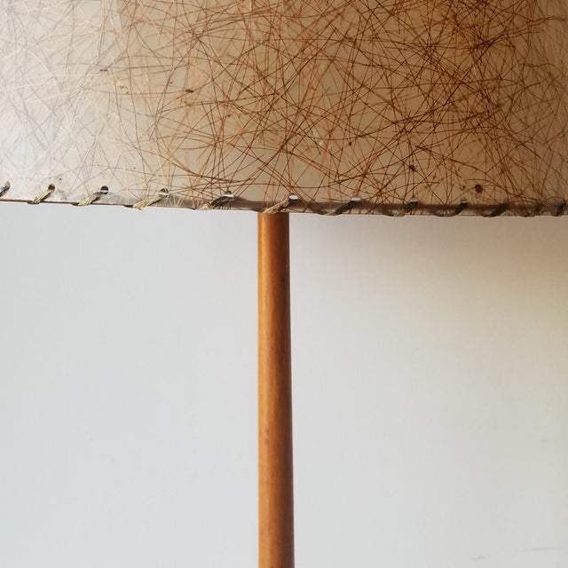 George Kovacs Mid-Century Modern Swedish Teak Table Lamp by George Kovacs For Sale - Image 4 of 9