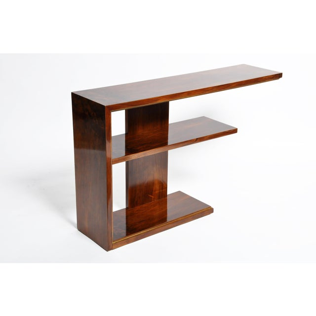 Hungarian Art Deco Console With Shelves For Sale - Image 9 of 13