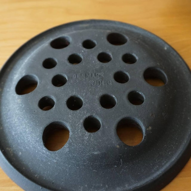 1960s Jens Quistgaard Iron Candleholder in Original Box For Sale - Image 5 of 7