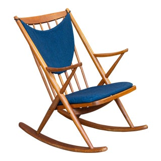 Bramin Mobler Danish Teak Rocking Chair For Sale