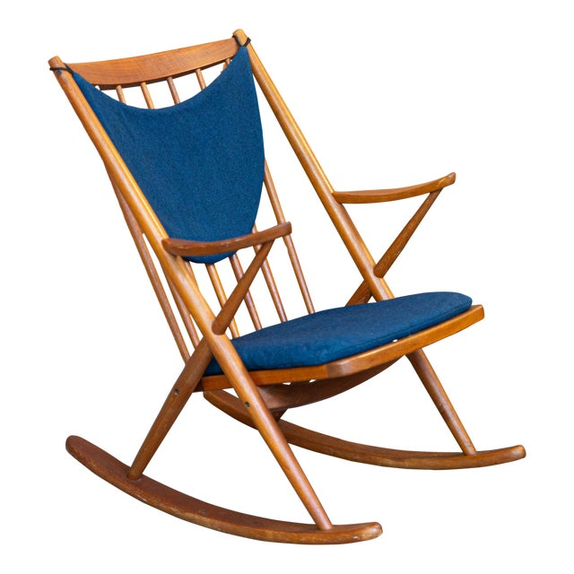 Bramin Mobler Danish Teak Rocking Chair For Sale