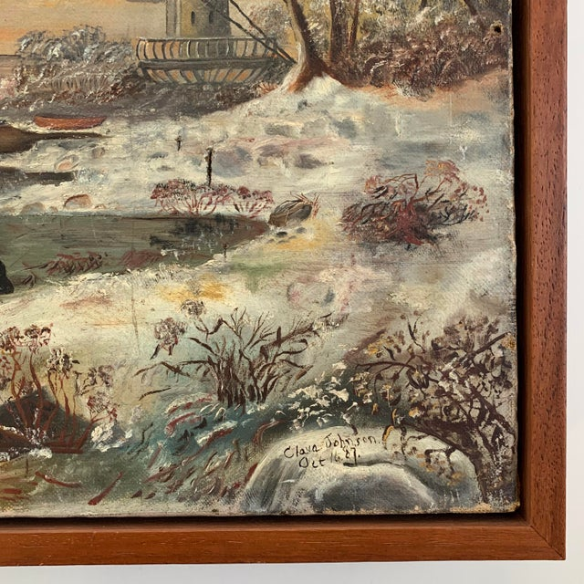 1887 Antique C. Johnson Oil on Canvas Painting For Sale - Image 4 of 12