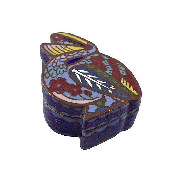 Antique Cloisonné Pelican Box - Image 2 of 7