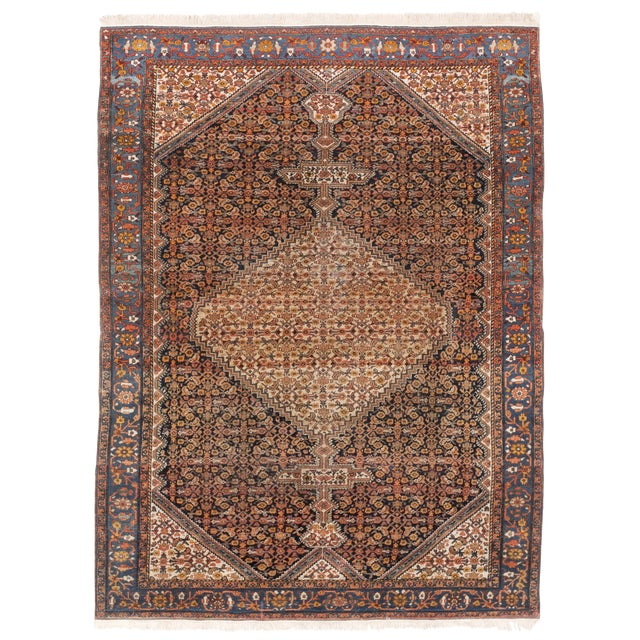 "Antique Persian Senneh Rug - 4'11"" x 6'6"" For Sale"