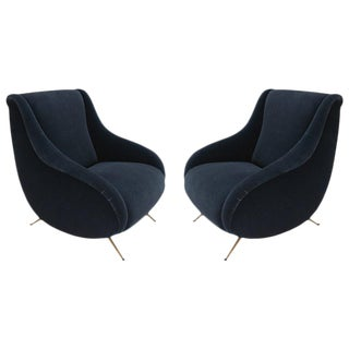 1960s Style Italian Armchairs - a Pair For Sale