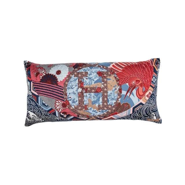 """""""Ex Libris en Kimonos"""" Hermès Silk Scarf Pillow For Sale"""