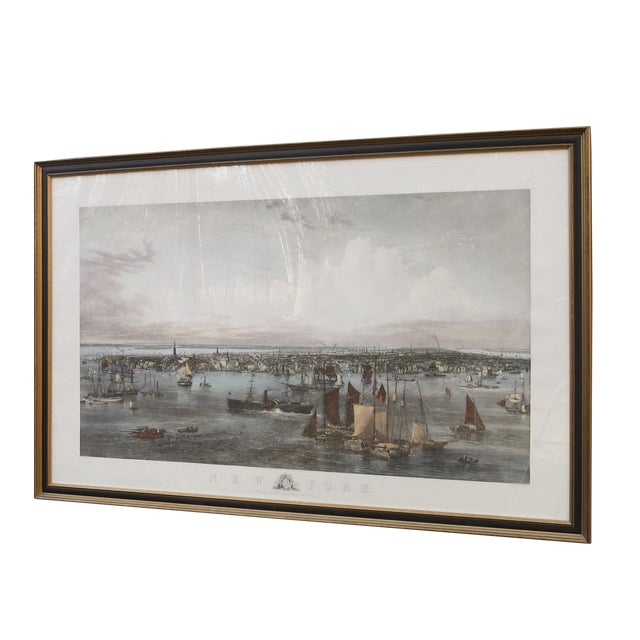 New York Harbor Print by Jw Hill For Sale