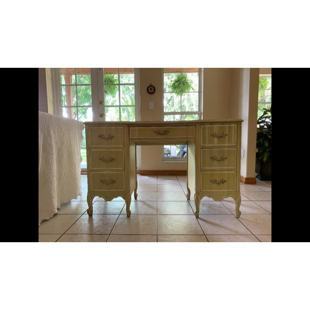 Mid 20th Century Henry Link French Provincial Vanity Desk For Sale - Image 5 of 5