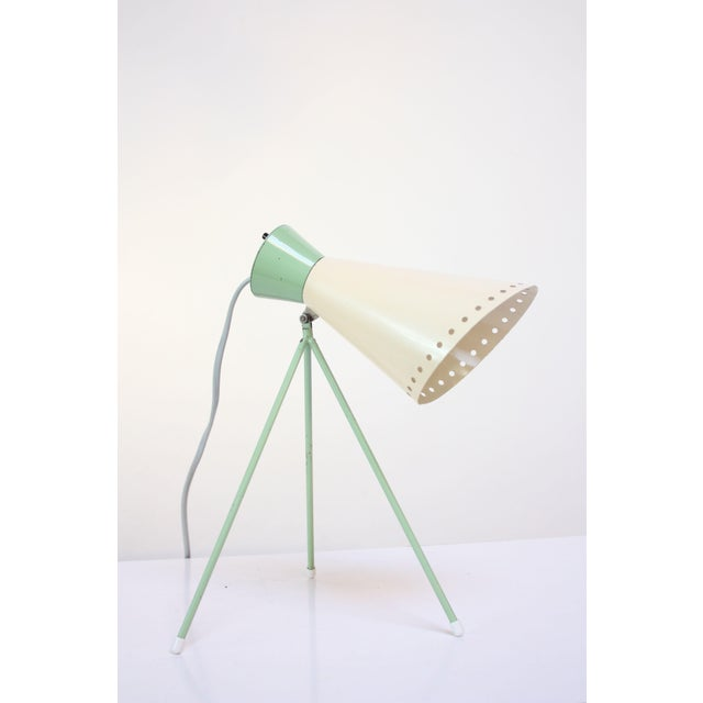 Mint Green Tripod Table Lamp by Josef Hurka for Napako For Sale - Image 13 of 13