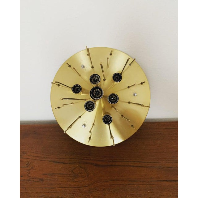 1960s Mid-Century Modern Bubble Murano Glass Flush Lamp by Doria Leuchten For Sale In Los Angeles - Image 6 of 9