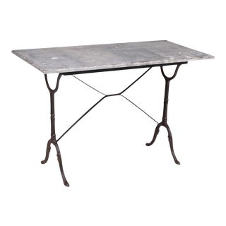 French Blue Stone Bistro Rectangle Table For Sale