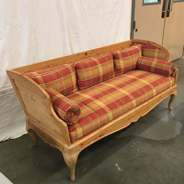 Swedish Pine Settee - Image 3 of 6